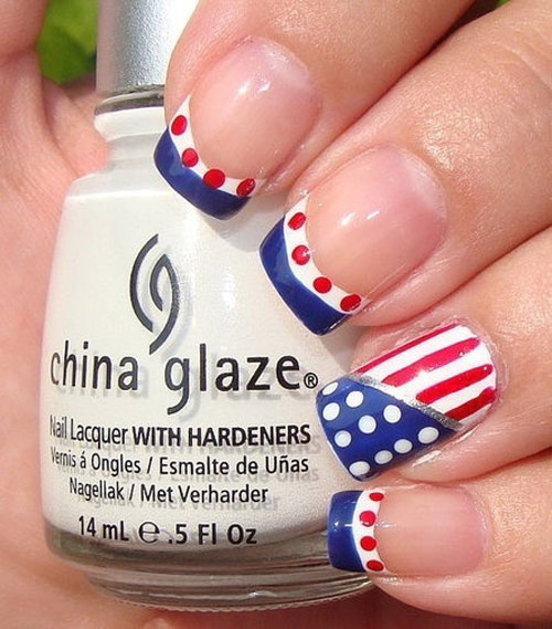Patriotic American Flag Nails - 15 Inspiring Fourth Of July American Flag Nail Designs & Ideas