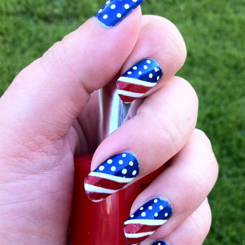 American Flag Nails - 15 Inspiring Fourth Of July American Flag Nail Designs  & Ideas - American Flag Nail Design Graham Reid