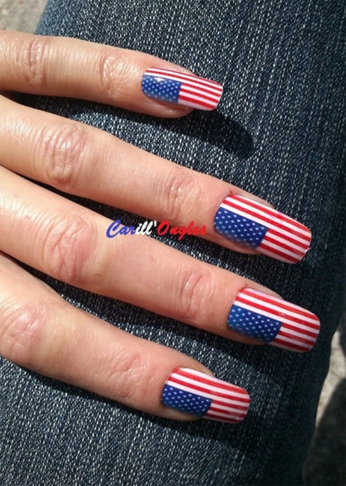 Colorful Nails Designs For July 4th Photos - Nail Polish Ideas ...