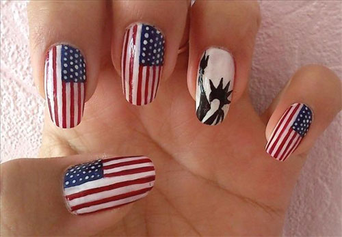 American Flag Nails - 15 Easy & Cool Fourth Of July American Flag Nail Designs 4th Of