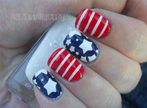 15 Easy Amp Cool Fourth Of July American Flag Nail Designs 4th Of July 2013 Girlshue