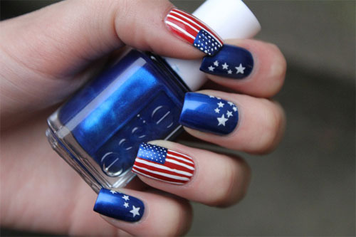 Image source - 15 Easy & Cool Fourth Of July American Flag Nail Designs 4th Of