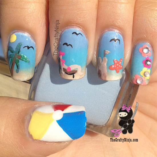 15 Cool & Easy Summer Nail Designs & Ideas For Girls 2013