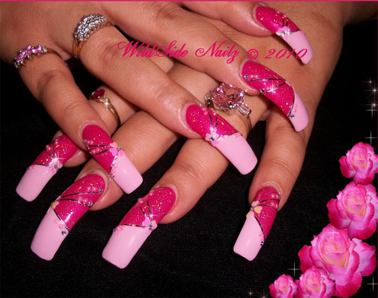 Cool Acrylic Nails - 15 + Best 3D Acrylic Nail Art Designs & Ideas 2013 For Girls