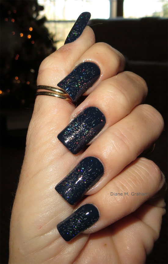 15 Best Black Acrylic Nail Art Designs Ideas 2013 For Girls