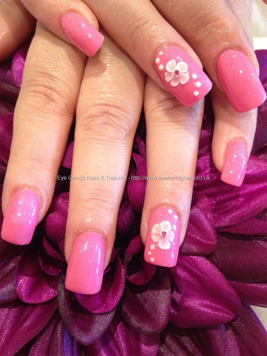 15 Simple Yet Elegant Pink Acrylic Nail Art Designs Amp Ideas 2013 Girlshue