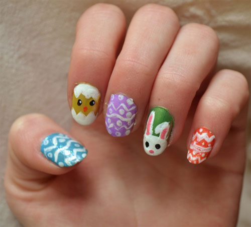 Easy Easter Nail Art: 15 Best & Easy Easter Nail Art Designs & Ideas For Girls