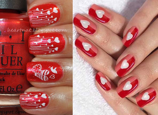 Easy Valentine's Day Nail Art. Image source. Image source - 10 Best, Simple & Easy Valentine's Day Nail Art Designs 2013 For