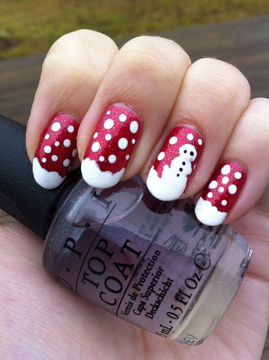 15 cool simple easy winter nail art designs ideas 20122013 - Nail Design Ideas 2012