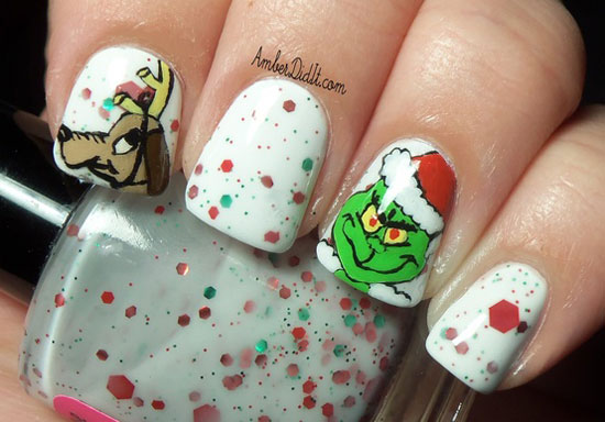Nails Art: 15 Cool, Simple & Easy Winter Nail Art Designs & Ideas