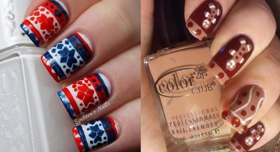 15 Cool Simple Amp Easy Winter Nail Art Designs Amp Ideas 2012 2013 Girlshue