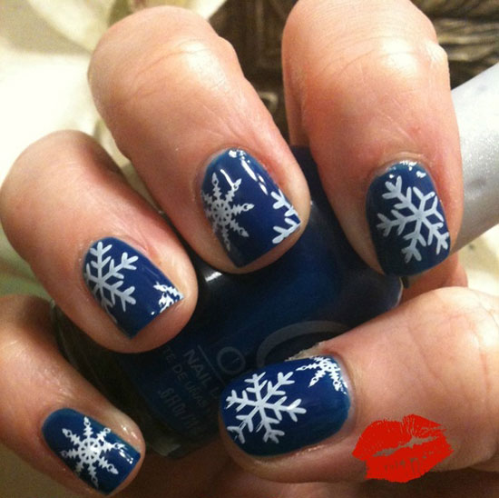 How to snowflake nail art best nails art ideas prinsesfo Images