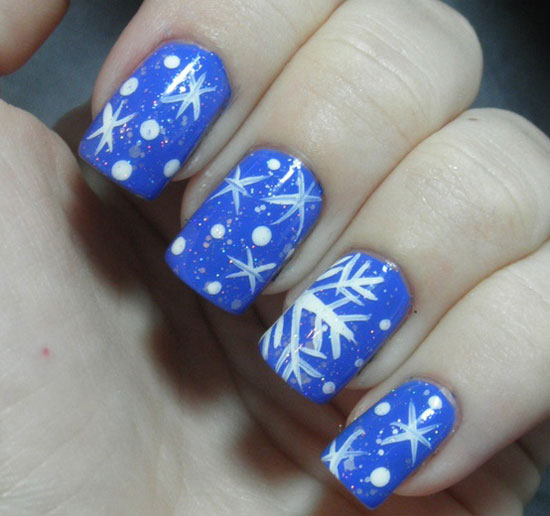 Inspiring Winter Snowflake Nail Art Ideas Designs 20122013 For