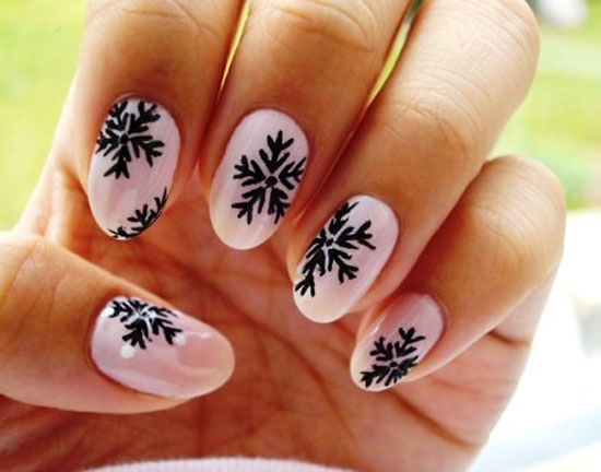 Nail Design Ideas 2012 retro snowflakes nail design Retro Snowflakes Nail Design
