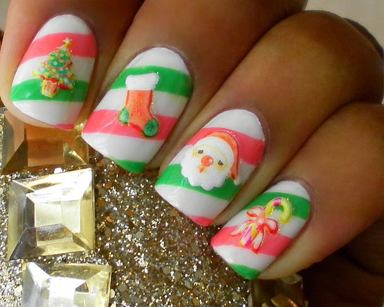15 best cute amp amazing christmas nail art designs ideas