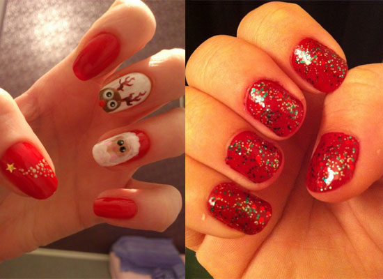 Red Christmas Nail Art Images Easy Nail Designs For Beginners Step