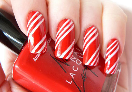 15 simple easy christmas nail art designs ideas 2012 for candy cane lane nails prinsesfo Gallery
