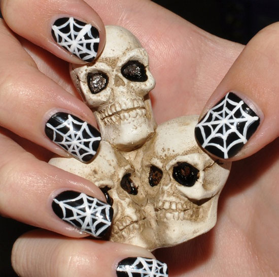 Nail Design Ideas 2012 15 simple easy christmas nail art designs ideas Simple Halloween Nail Art Ideas