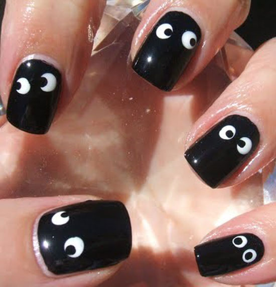 Nail Art Design Ideas 15 cute polka dot french nail art designs Halloween Googly Eye Nails