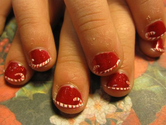 Best Christmas Nail Art Design - 15 Simple & Easy Christmas Nail Art Designs & Ideas 2012 For