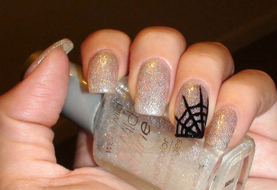 25 Simple Easy Scary Halloween Nail Art Designs Ideas Pictures