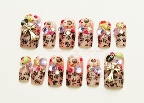 Halloween nail designs 2012 gallery nail art and nail design ideas 25 best scary halloween nail art designs ideas 2012 girlshue 3d nail art wicked witch eyeballs prinsesfo Choice Image