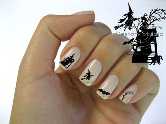Halloween cat nail art images nail art and nail design ideas witch nail art image collections nail art and nail design ideas 25 best scary halloween nail prinsesfo Choice Image