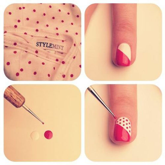 25 best easy nail art tutorials 2012 for beginners learners vintage nails tutorial prinsesfo Image collections