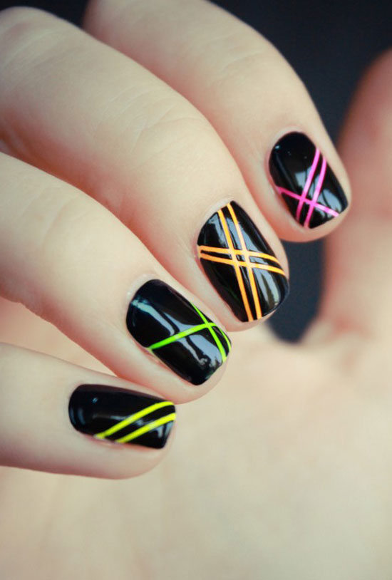 Neon Nail Art - 20 Best Yet Stylish Random Nail Art Designs & Supplies Girlshue