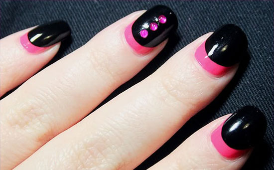 20 Easy Simple Black Nail Art Designs Supplies Galleries For