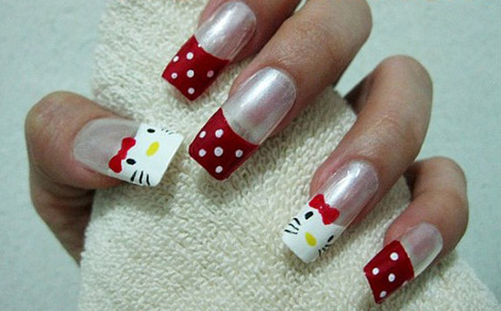 Simple nail art design pic best nails 2018 15 cute simple o kitty nail art designs stickers prinsesfo Choice Image