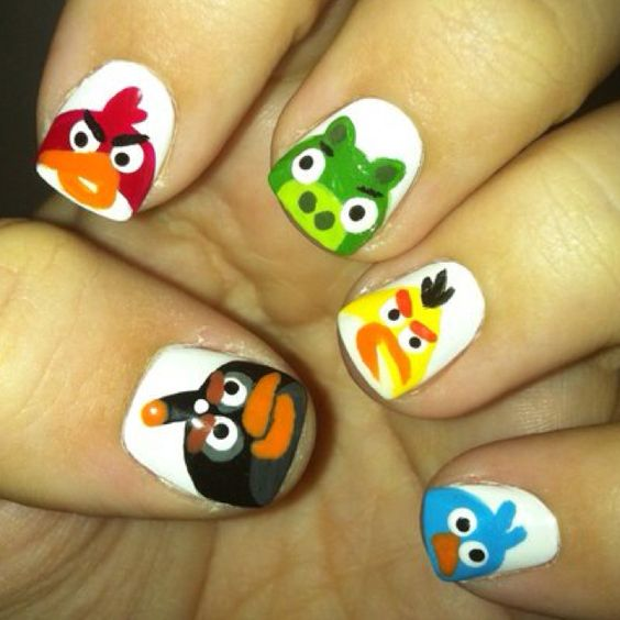Angry Birds Nail Art Ideas, Stickers and Decals 2016 | Girlshue