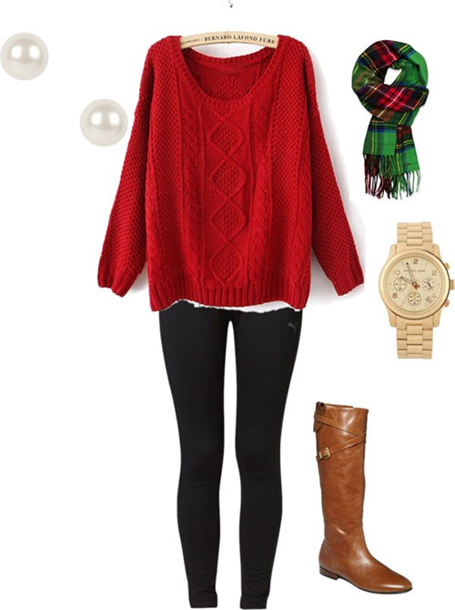 Superb Casual Christmas Party Outfit Ideas Part - 5: Buy From Polyvore