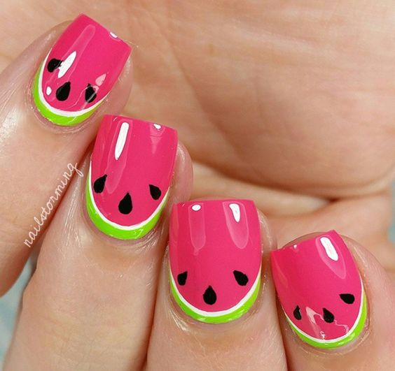 Watermelon Nail Art Designs for Summer 2016 4
