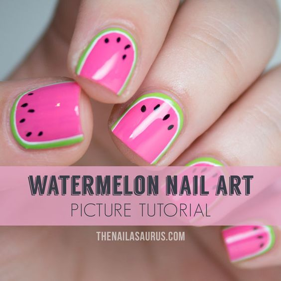 Watermelon Nail Art Designs for Summer 2016 5