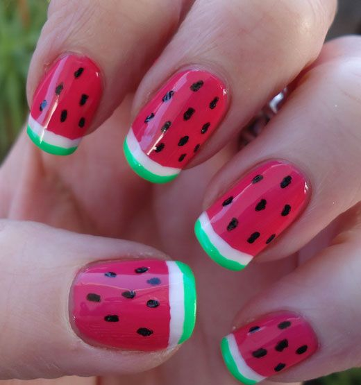 Watermelon Nail Art Designs for Summer 2016 6