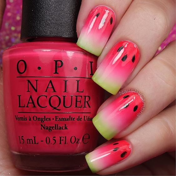 Watermelon Nail Art Designs for Summer 2016 7