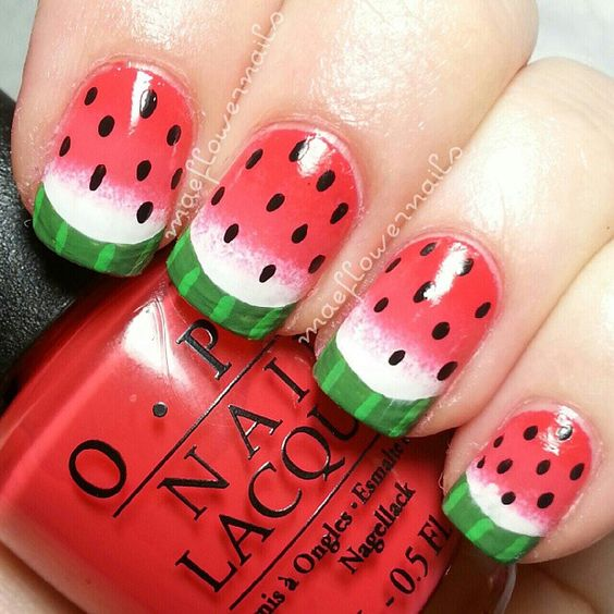 Watermelon Nail Art Designs for Summer 2016 8
