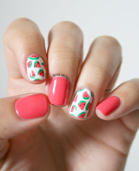 Watermelon Nail Art Designs for Summer 2016 9