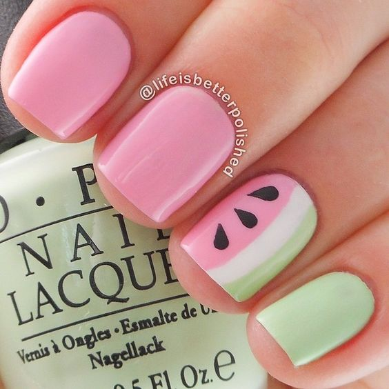 Watermelon Nail Art Designs for Summer 2016 2