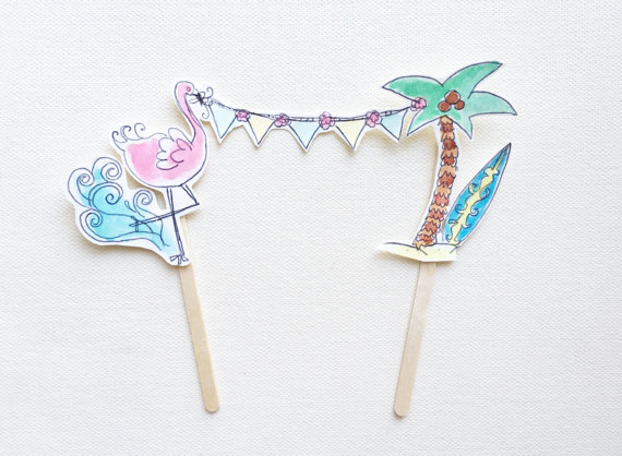 15+ Summer Themed Cake Toppers 13