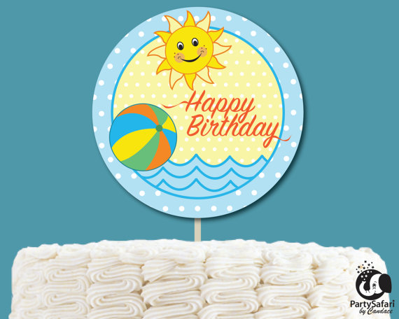 15+ Summer Themed Cake Toppers 6