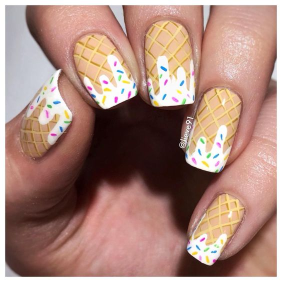 Ice Cream Nail Art Ideas for Summer 2016 1