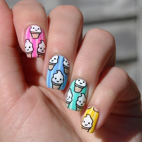 Ice Cream Nail Art Ideas for Summer 2016 11
