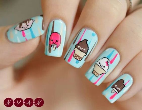 Ice Cream Nail Art Ideas for Summer 2016 13