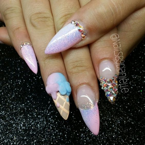 Ice Cream Nail Art Ideas for Summer 2016 15