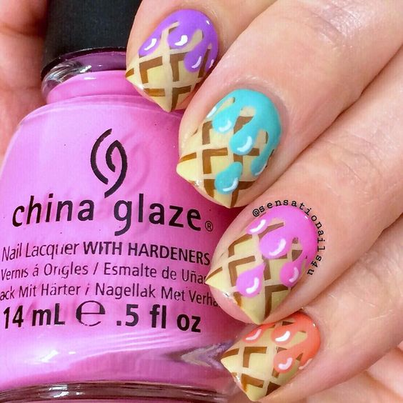 Ice Cream Nail Art Ideas for Summer 2016 16