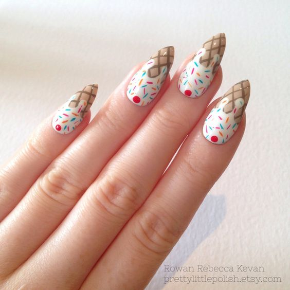 Ice Cream Nail Art Ideas for Summer 2016 18