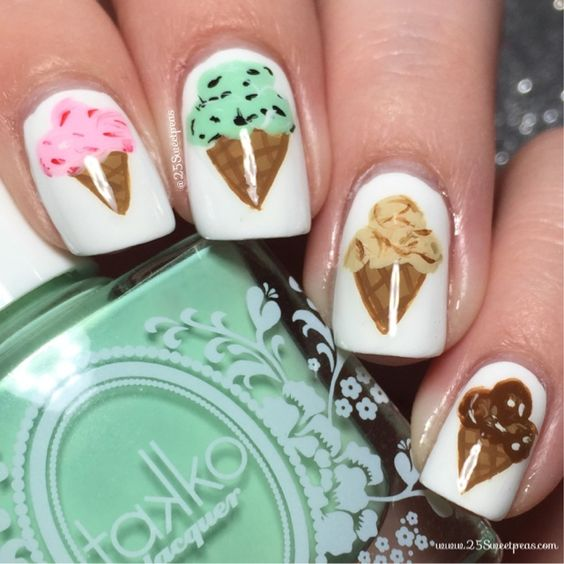 Ice Cream Nail Art Ideas for Summer 2016 19