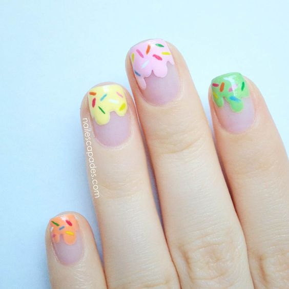 Ice Cream Nail Art Ideas for Summer 2016 5